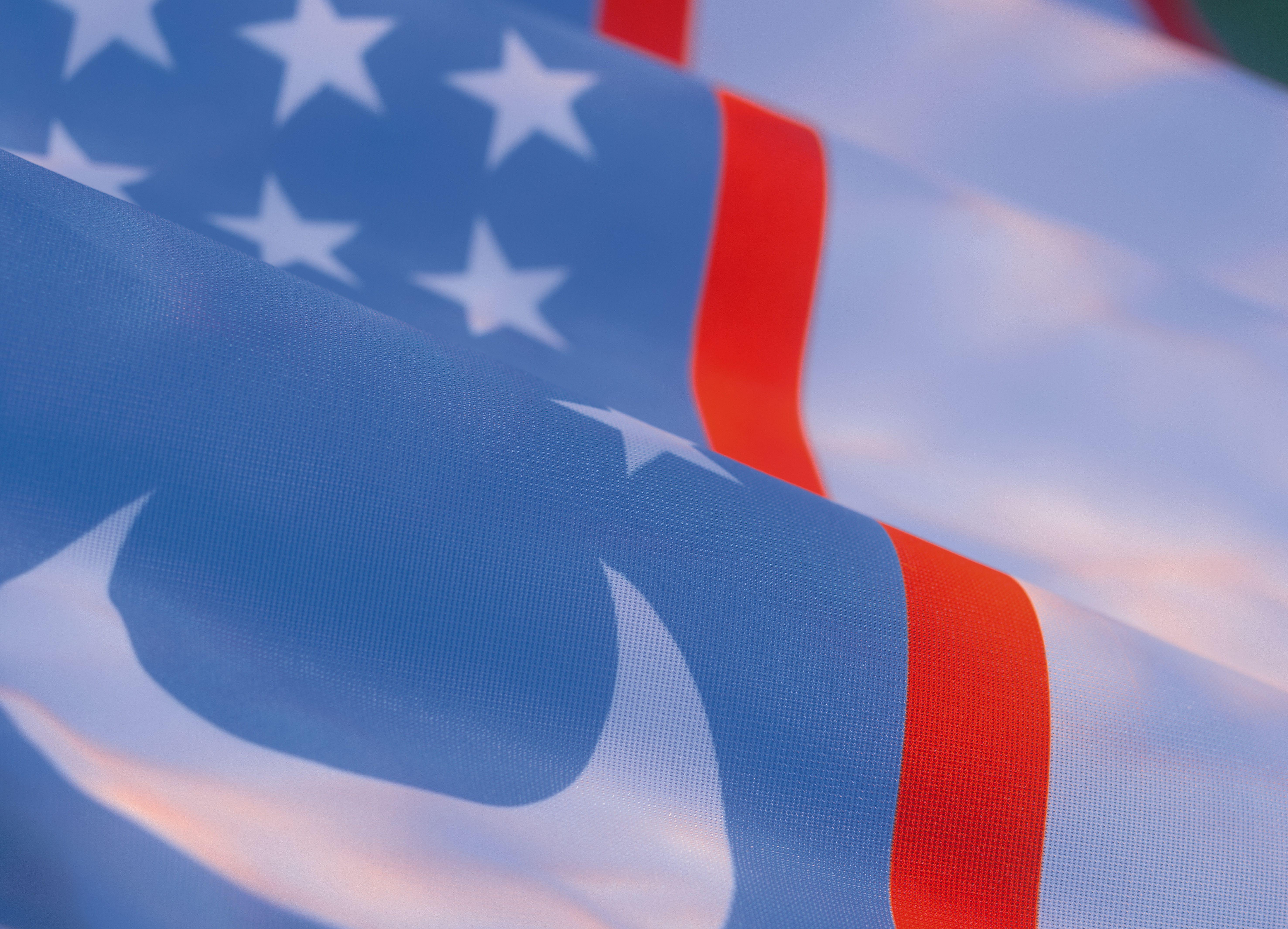 close-up of the flag of Uzbekistan