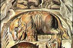 """""""Behemoth and Leviathan"""" by William Blake, from his Illustrations of the Book of Job."""