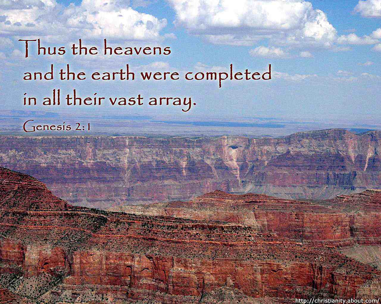 Heaven and Earth with bible verse