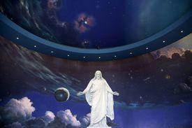 Jesus statue in Mormon Temple in Salt Lake City
