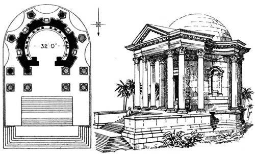 Baalbek Temple of Venus: Daigram of the Temple of Venus at Baalbek, Lebanon