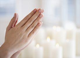 woman's hands in prayer