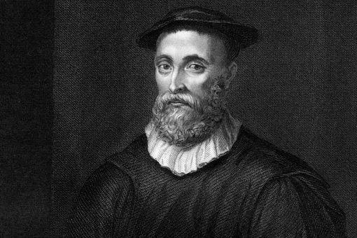 Vintage engraving portrait of John Knox