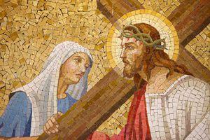 Mosaic piece of art