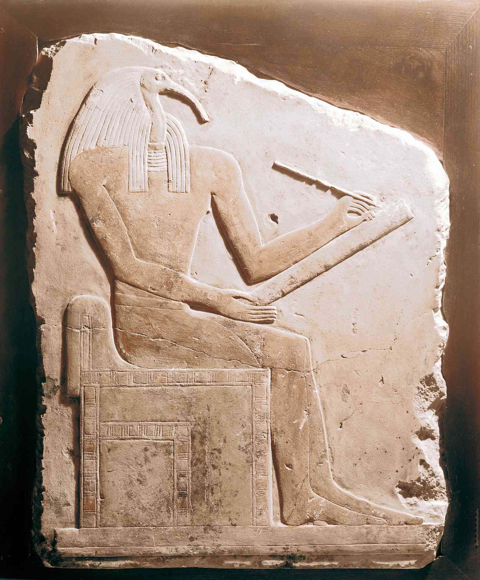 Relief of Thoth holding writing tools