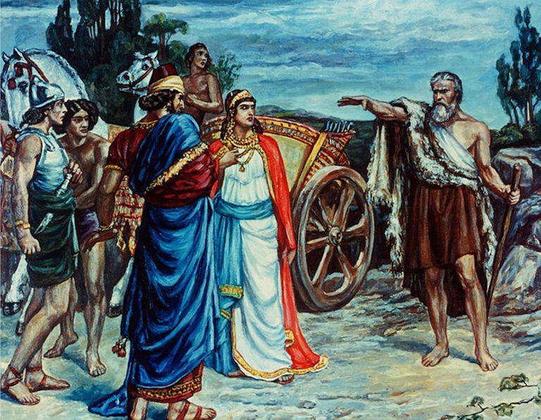 Jezebel and Ahab Meeting Elijah