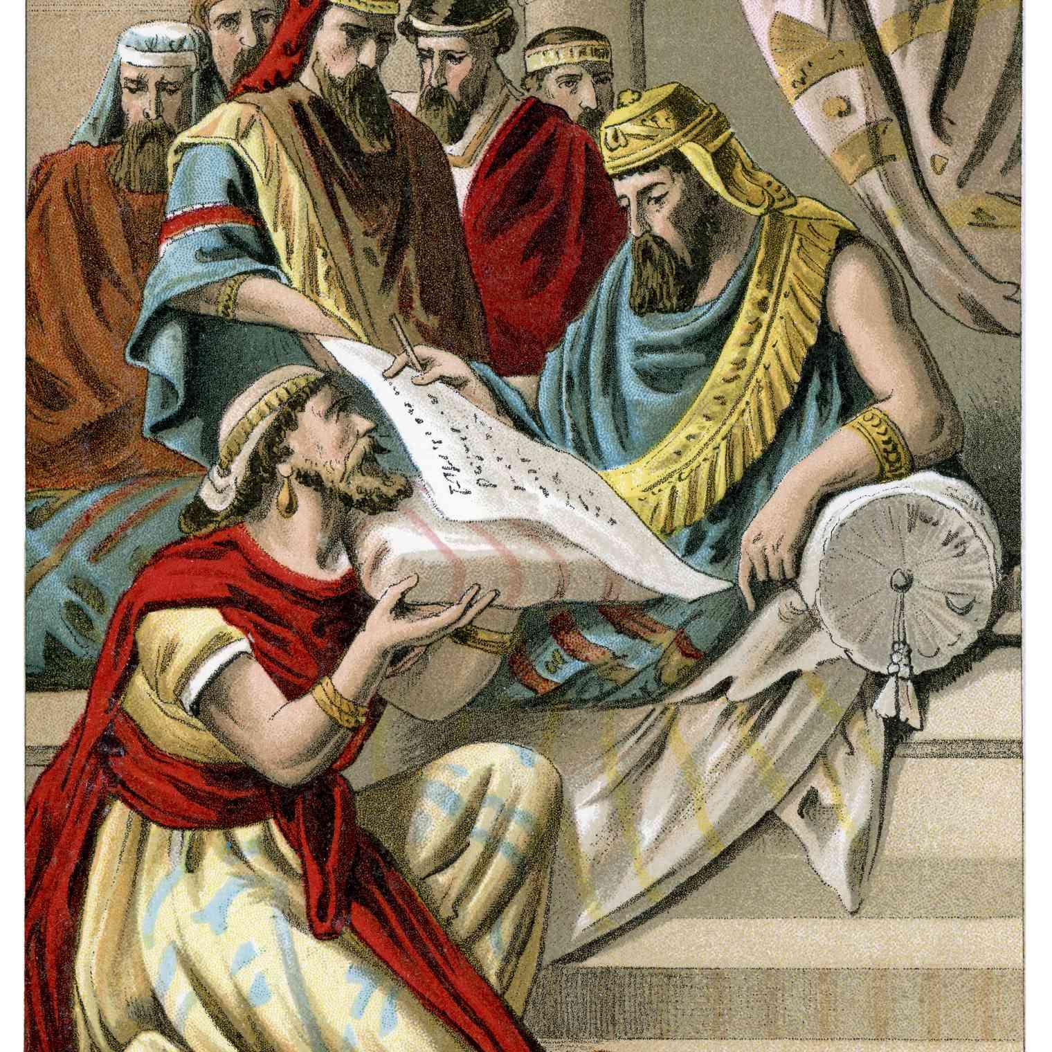 King Darius signs the decree