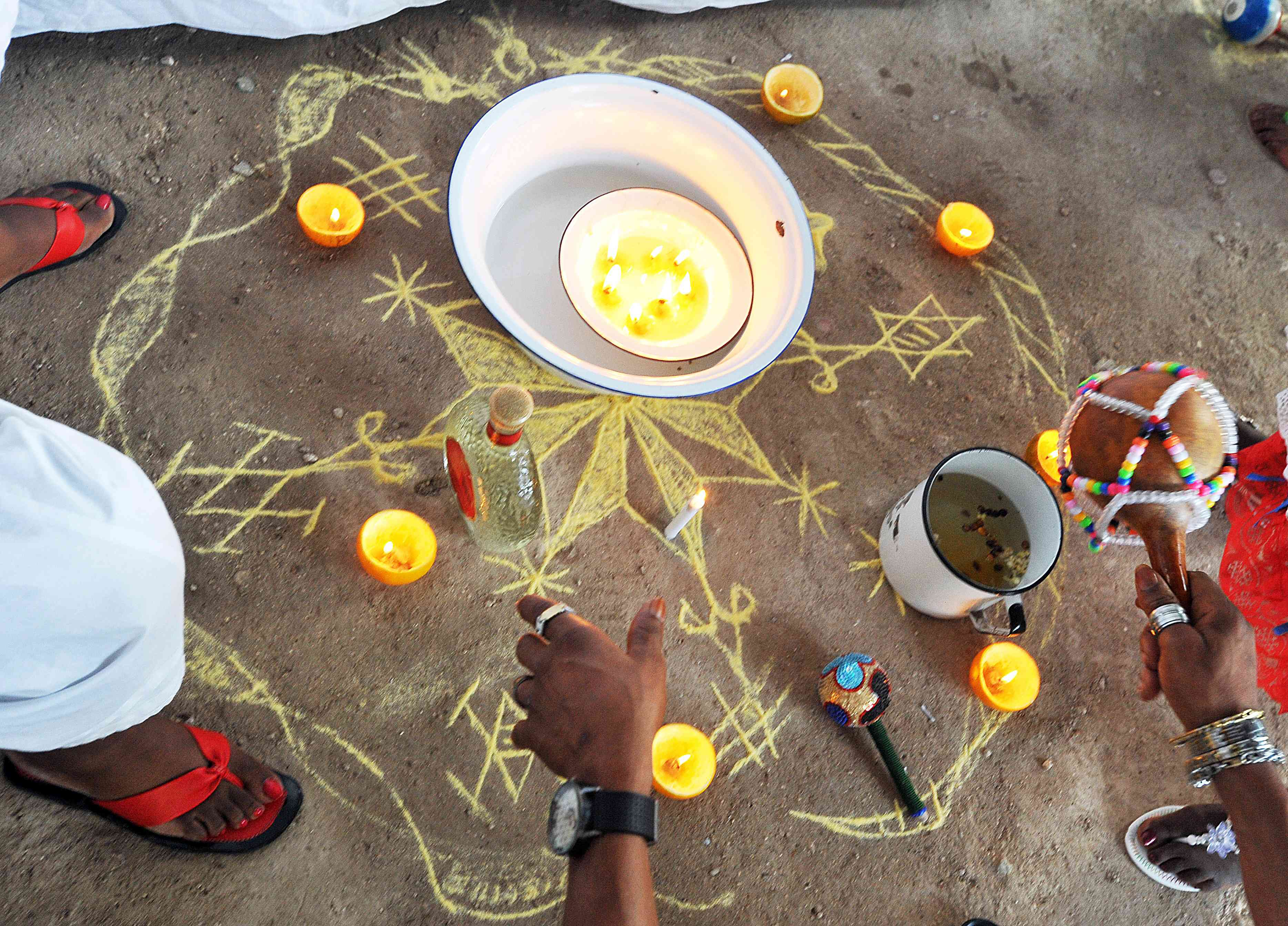 Offerings made to Erzulie