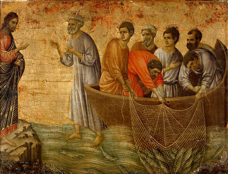 The Apparition on the Lake of Tiberiade by Duccio di Buoninsegna