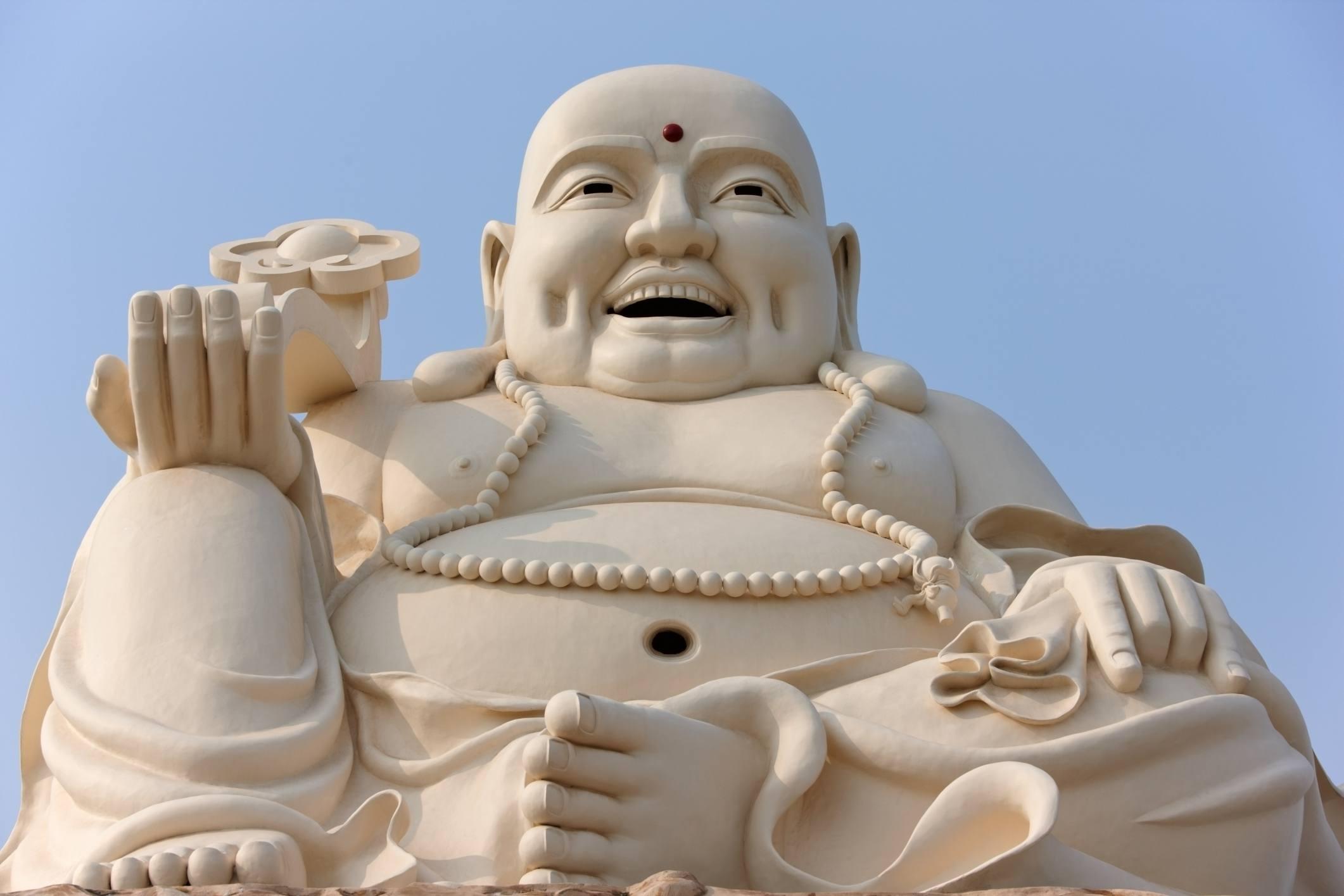 White Ceramic Budai