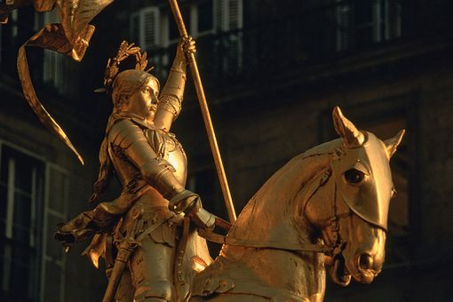 Statue of Joan of Arc at the Place Des Pyramides