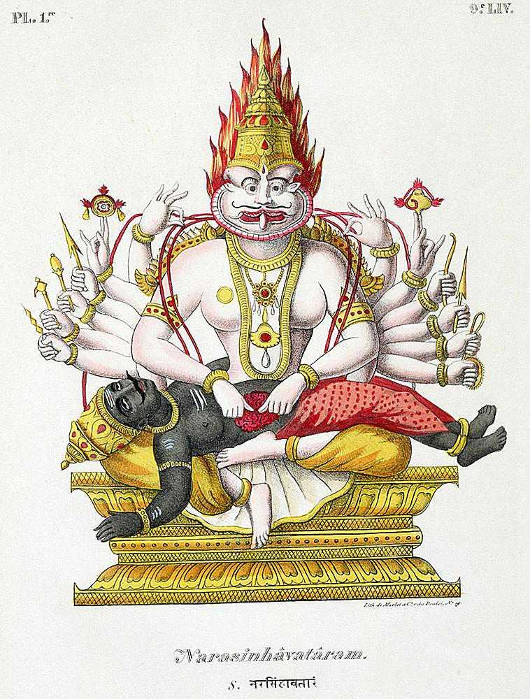 Narasimha, the man-lion avatar of Vishnu