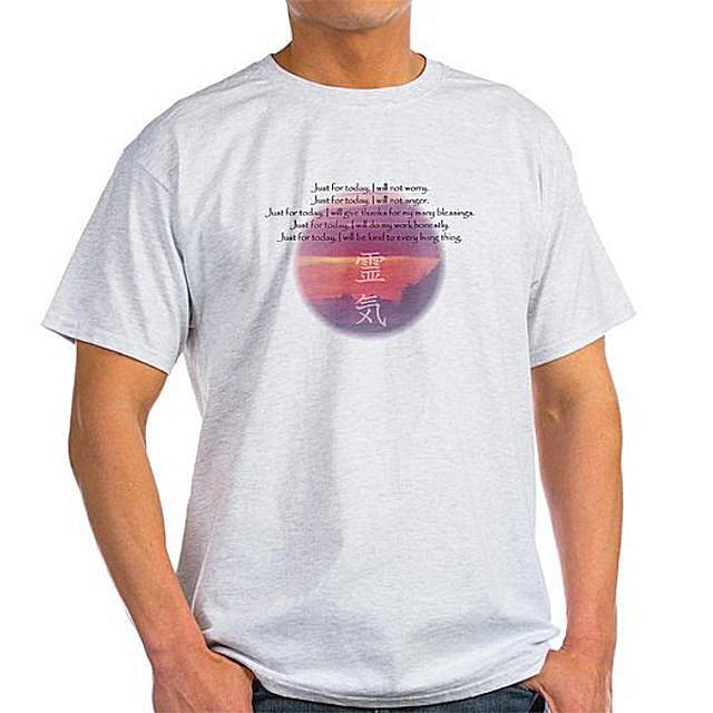 Reiki Principles Imprinted on T-Shirt