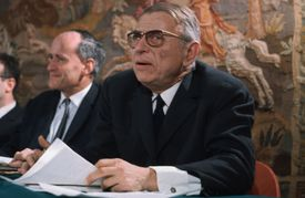 Jean Paul Sartre, the Father of Existentialism, in Paris