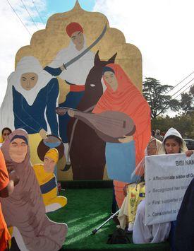 Woman of Sikh History Yuba City Nagar Kirtan Float