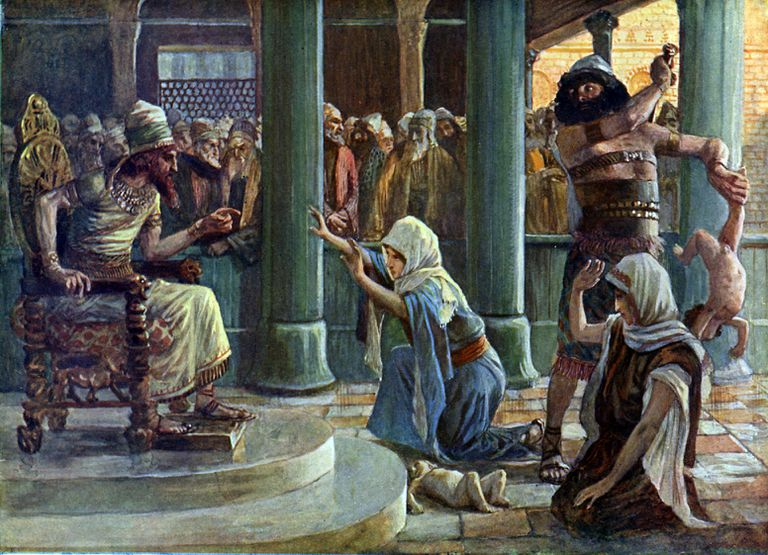 The Wisdom of Solomon by James Tissot (1836-1902)