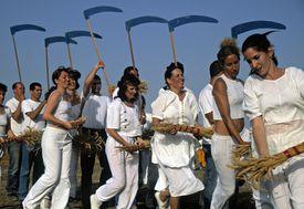 Shavuot (Feast of Weeks) celebration in Israel