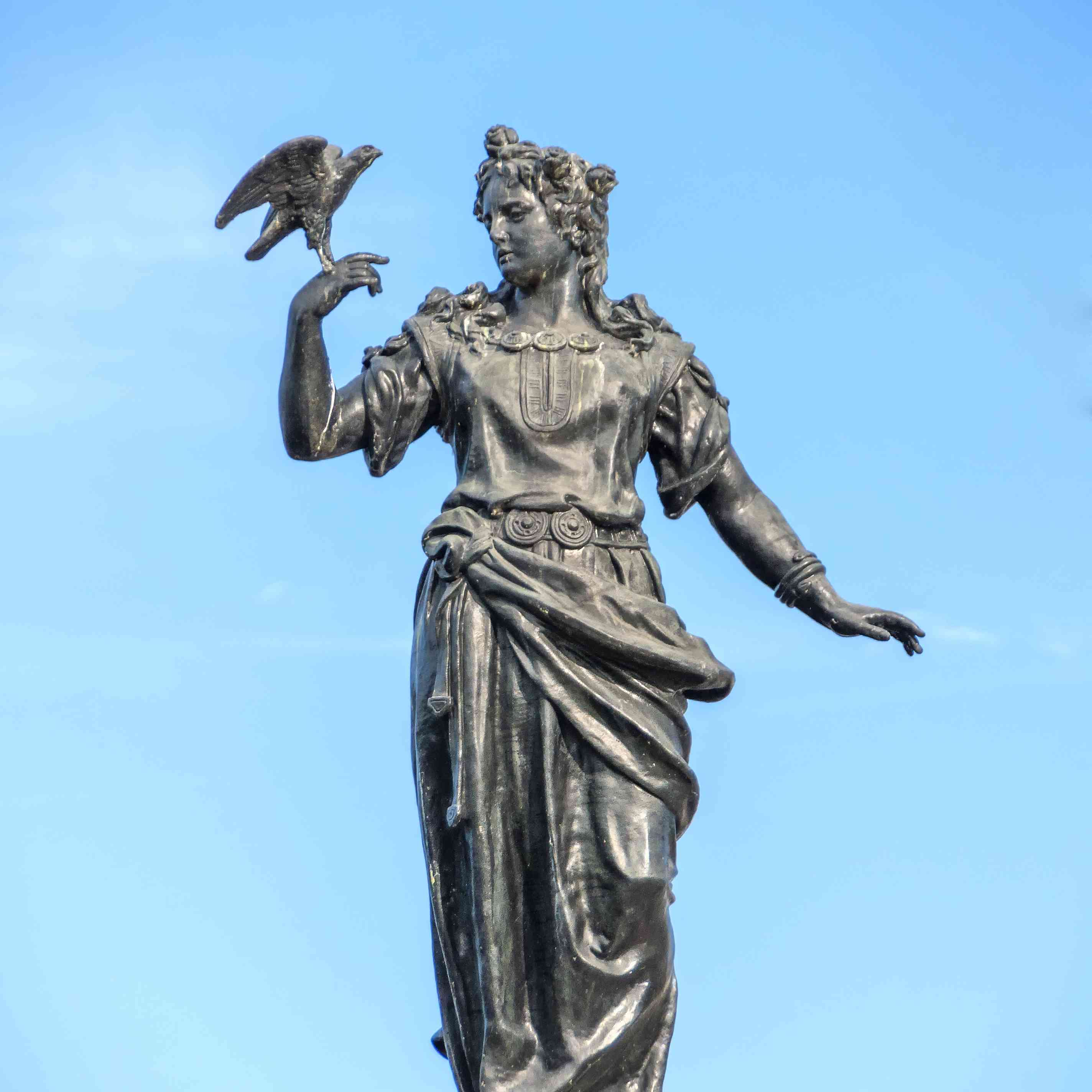 Statue of the Norse Goddess Freya in Stockholm.