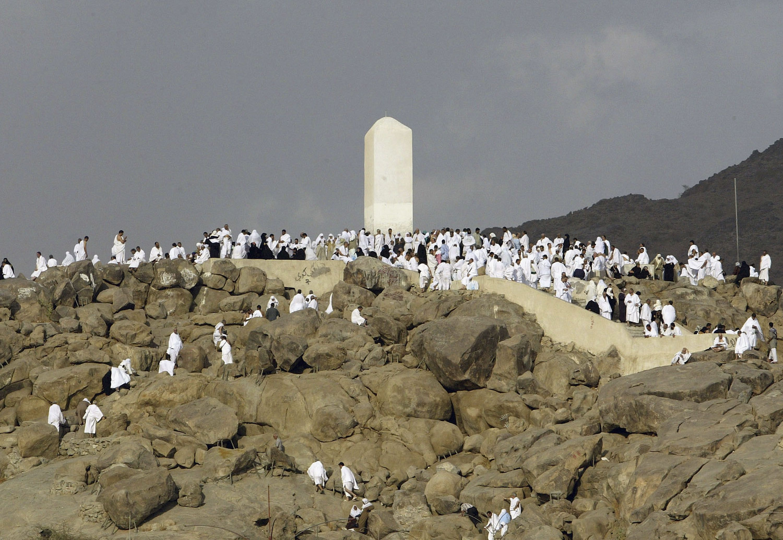 Muslim Pligrims Arrive in Arafat