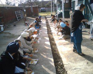 Sikh Sangat Sitting for Gur ka Langar