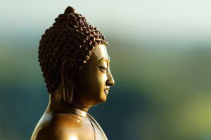 closeup of Buddha statue