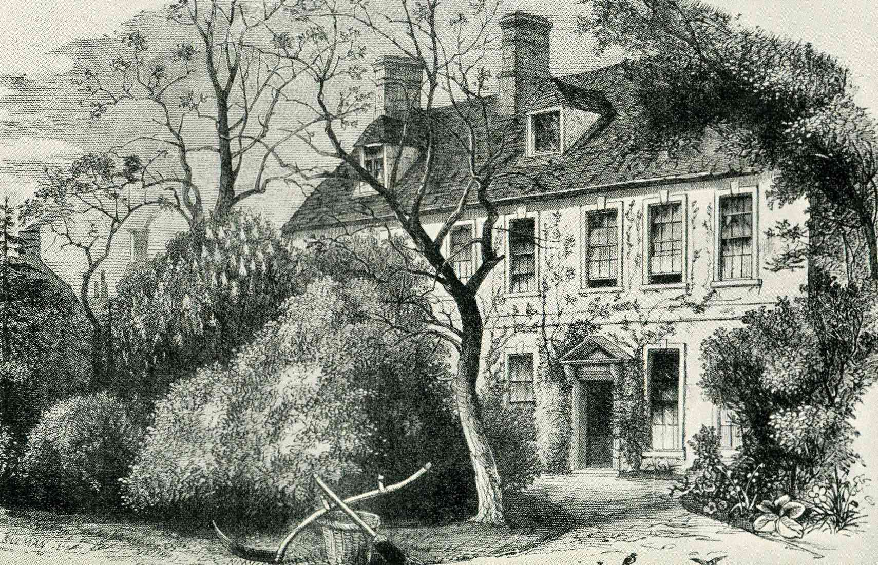 The vicarage in Olney, Buckinghamshire