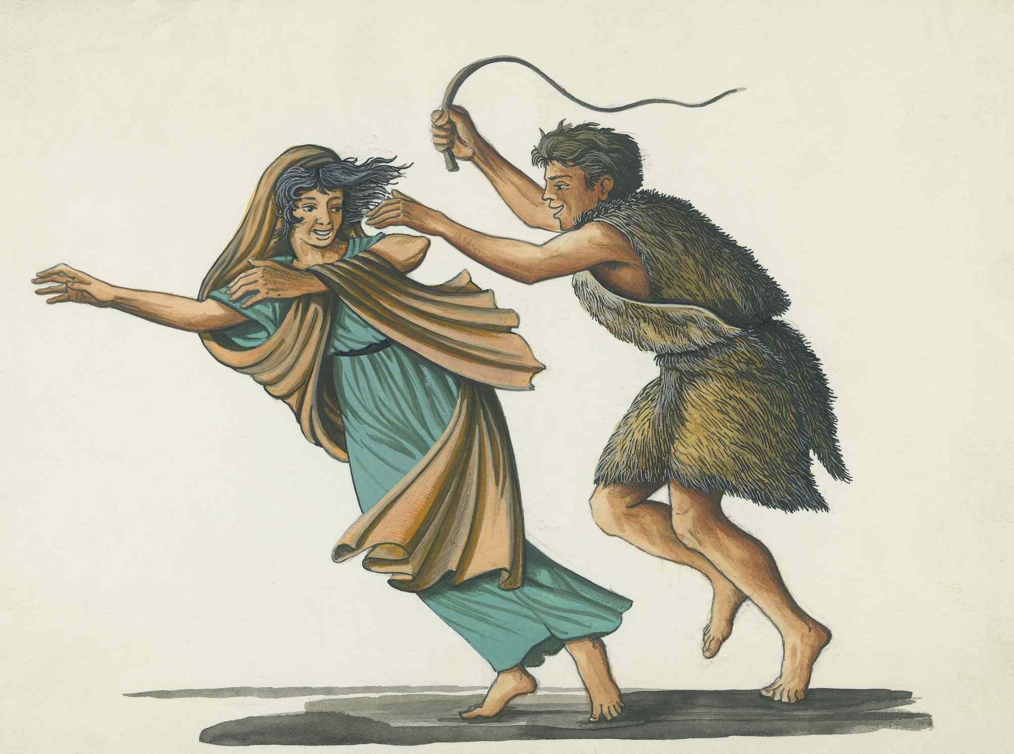 Drawing of the Lupercalia pastoral festival