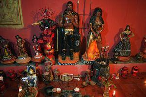 Altar to Exu and Pomba Gira