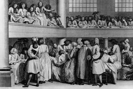 A meeting of the Quakers, or Religious Society of Friends (1725).