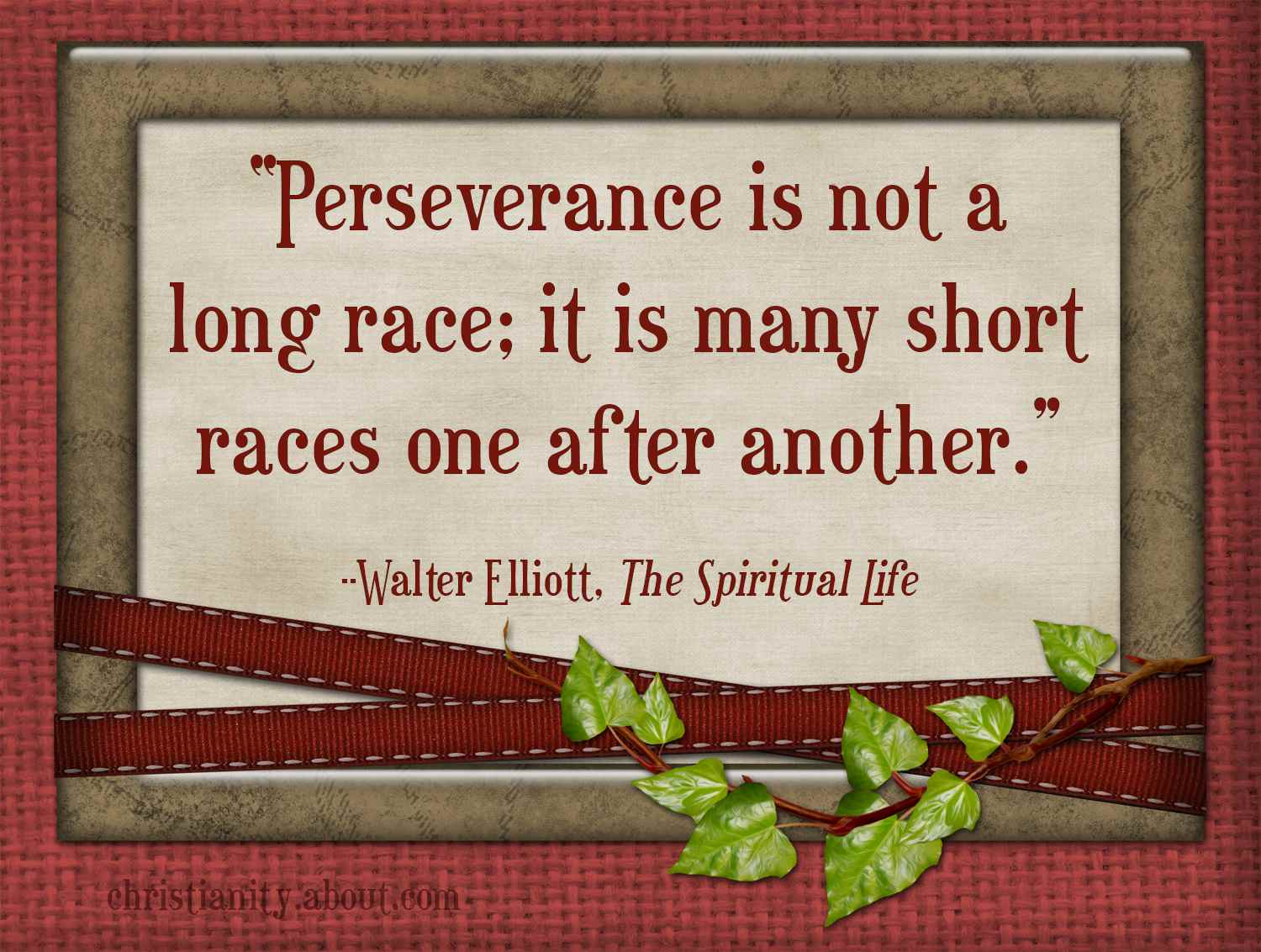 Perseverance in Hardship is the Hallmark of a Christian