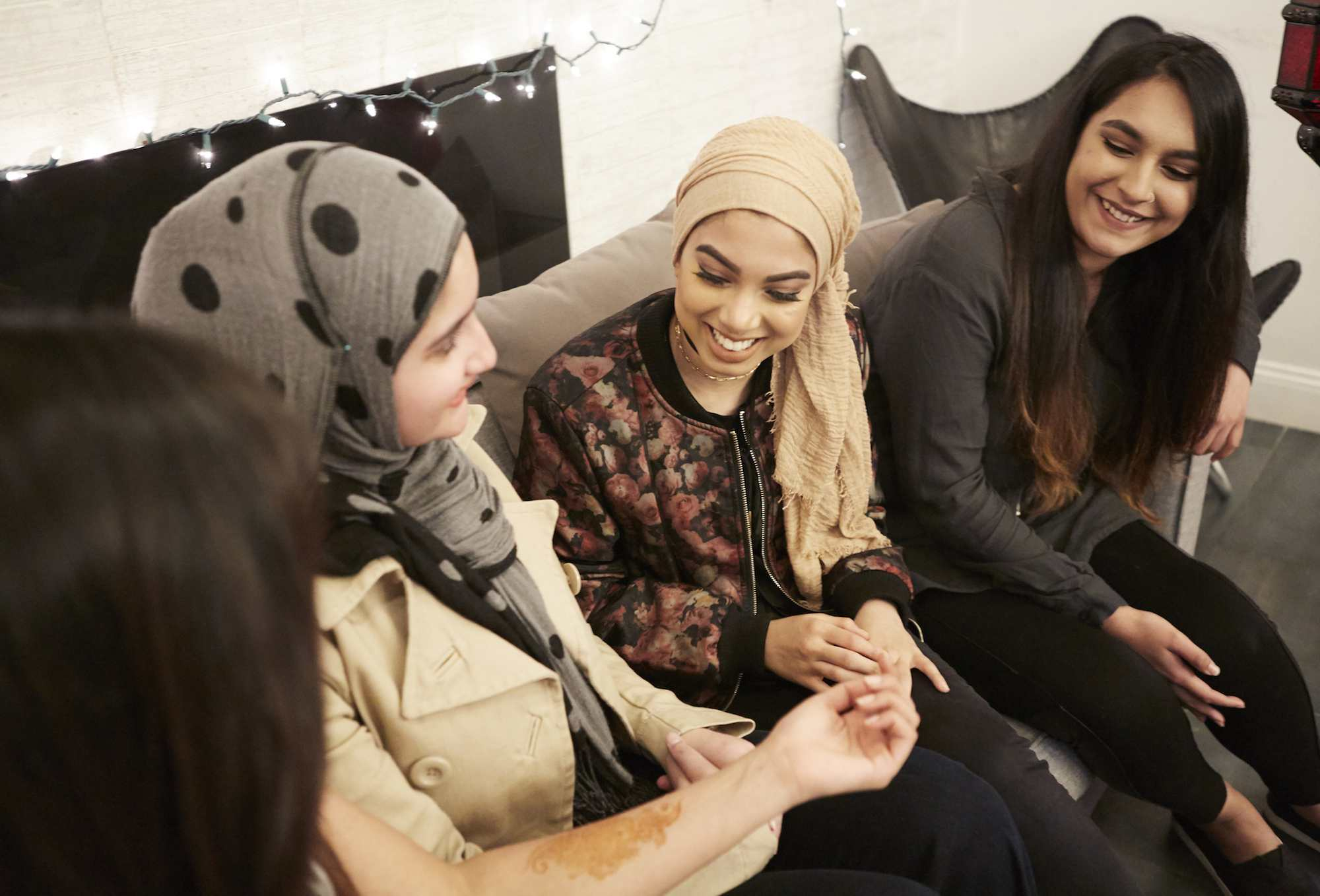 Muslim girls conversing