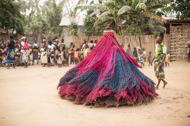 Villagers perform Zangbeto Voodoo ritual in Africa