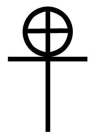 Old Coptic cross illustration