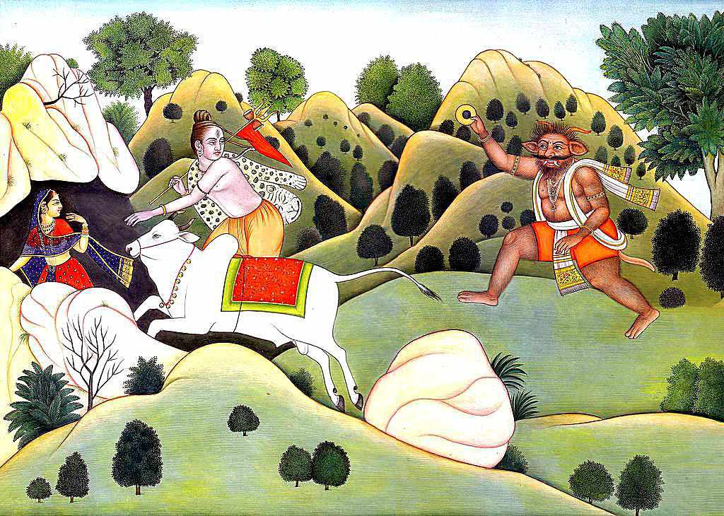 Shiva Protecting Parvati from the Demons