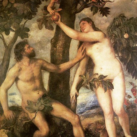Fall of Man, by Titian, 1488/90.