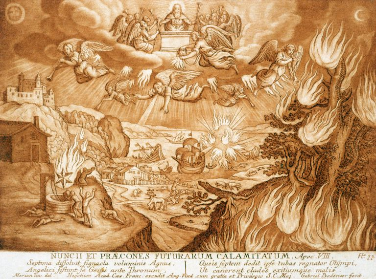 Illustration of Wormwood Star from Revelation 8