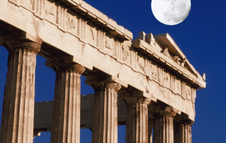 Full Moon Over Parthenon