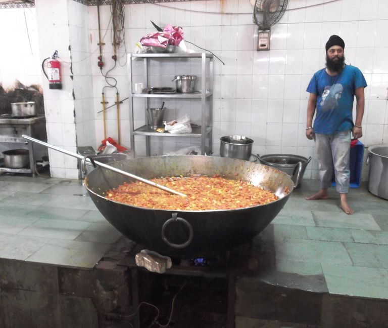 Langar Kitchen at Gurdwara Bangla Sahib
