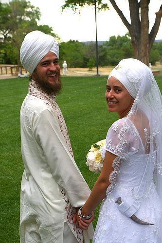 Wedded Bride and Groom