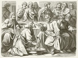 Jesus washing the Disciples' Feet (John, 13)
