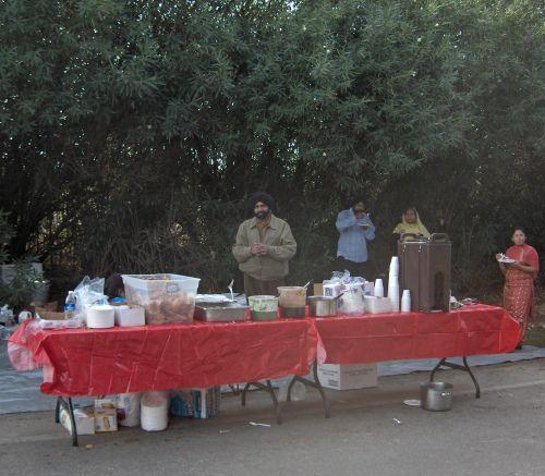 Langar Service Along Yuba City Parade Route