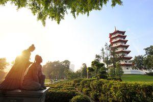 Chinese garden in Singapore