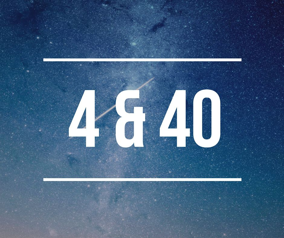 the numbers 4 and 40 among stars