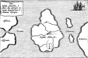 Map of Legendary City of Atlantis