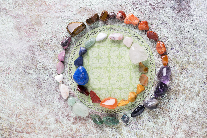 Crystals Arranged in a Spiral