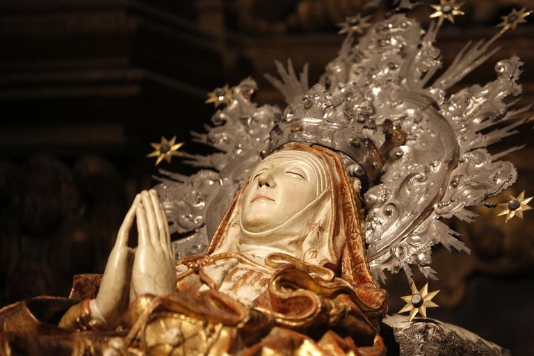 Sculpture in Mallorca cathedral : Mary's death