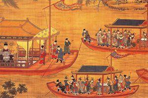 Jiajing on his state barge. Scroll c. 1538