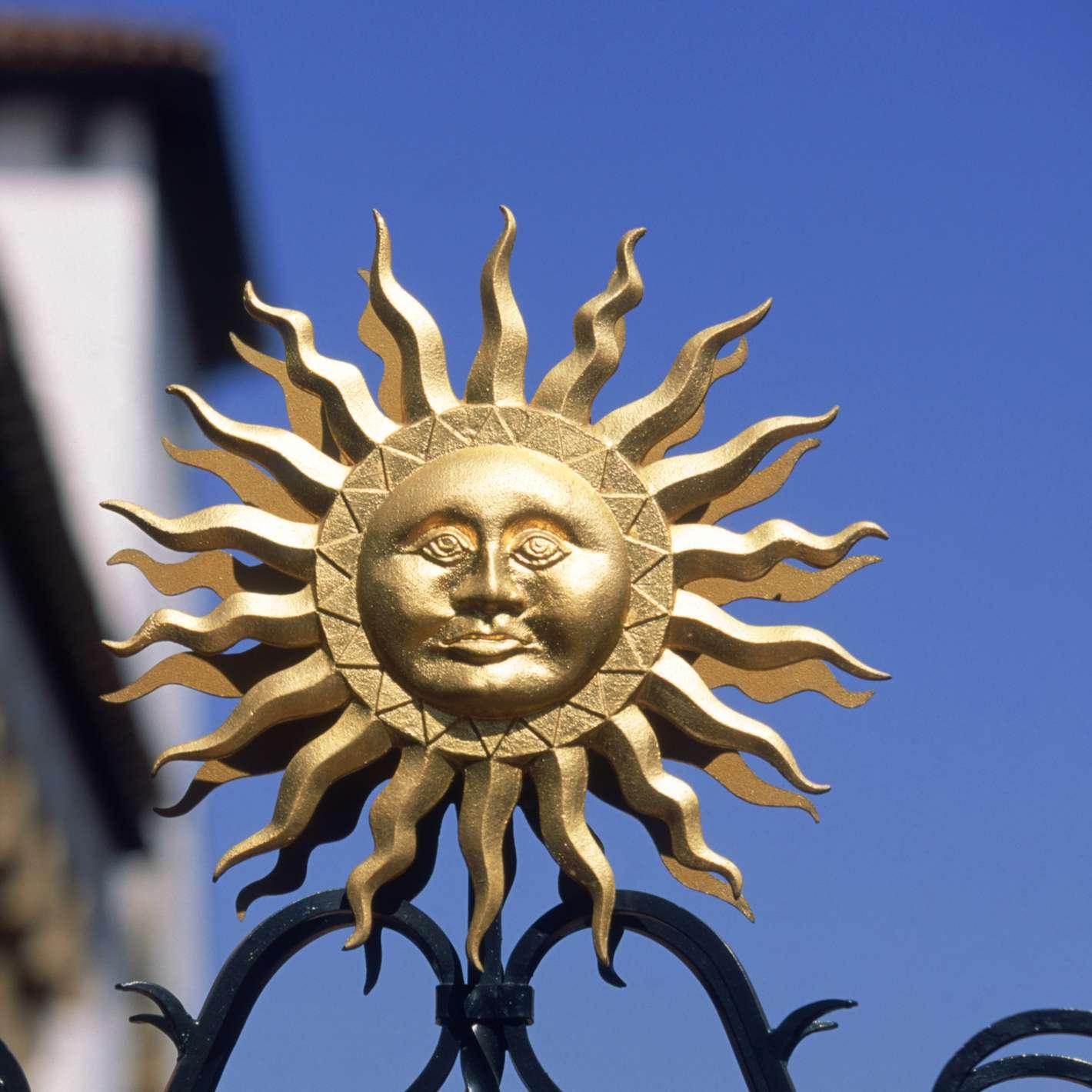 Sun statue in Santa Barbara, CA