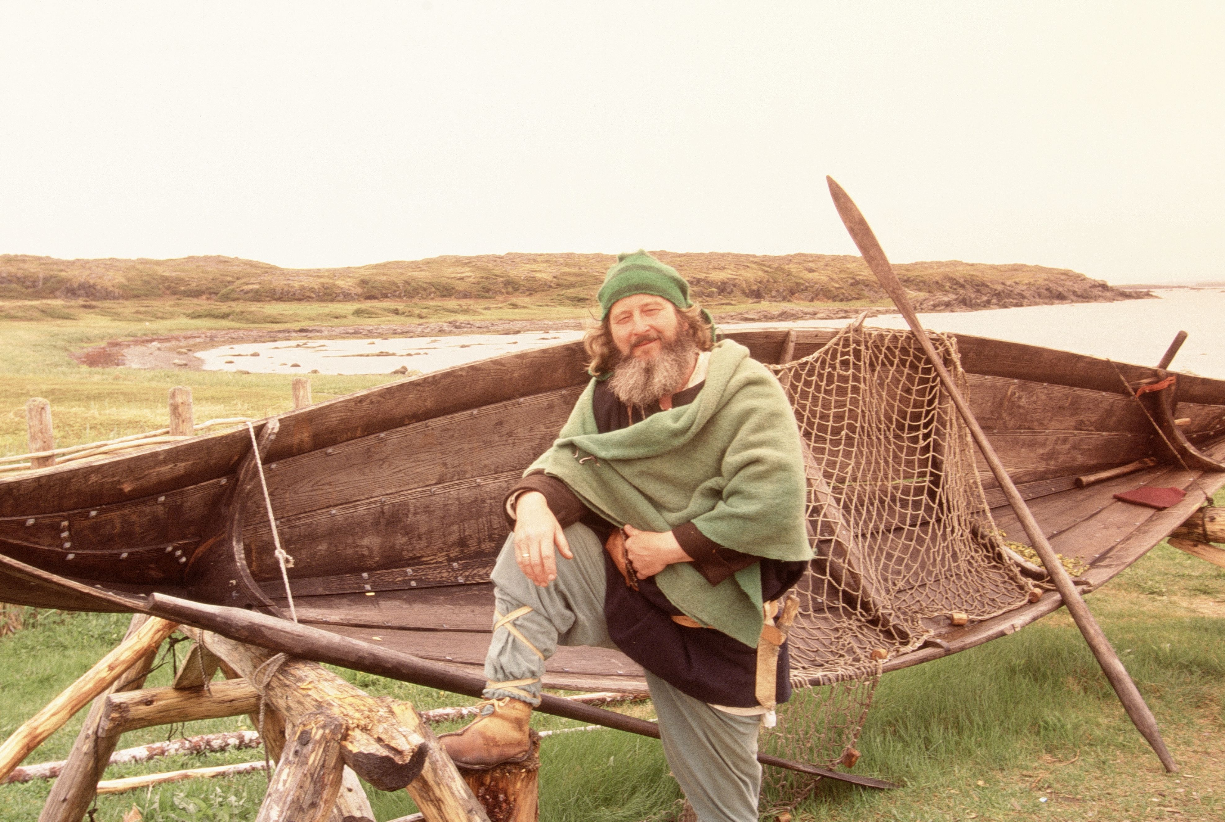 Man in traditional viking clothes