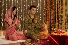 A Hindu Couple at Puja